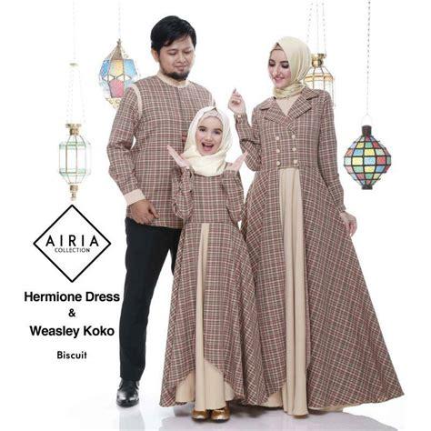 Baju Muslim Keluarga Branded Baju Keluarga Untuk Lebaran Hermione Dress Dan