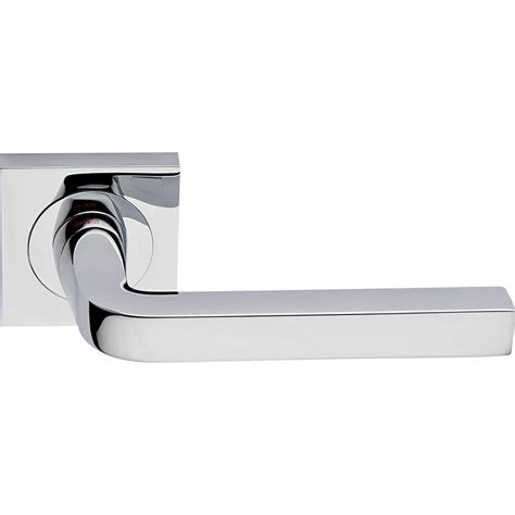 Door Handle Polished Chrome Interior Milano Square Polished Chrome Interior Door Handles