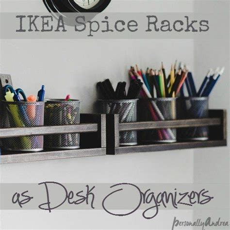 Ikea Schlaf Arbeitszimmer by Desk Organizer With Ikea Spice Racks Schlaf