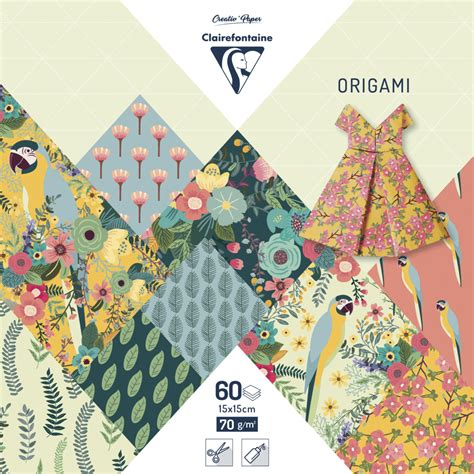 Papier Origami - papier origami a motifs mille et une feuilles