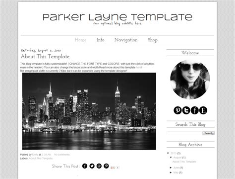 templates for blogger white premade blogger template simple parker bd web studio