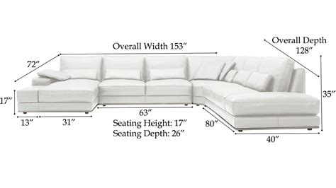 leather couch dimensions modern 3 piece white leather nolan sectional sofa zuri