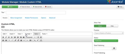 video tutorial joomla 3 3 how to use the joomla custom html module for diverse pages