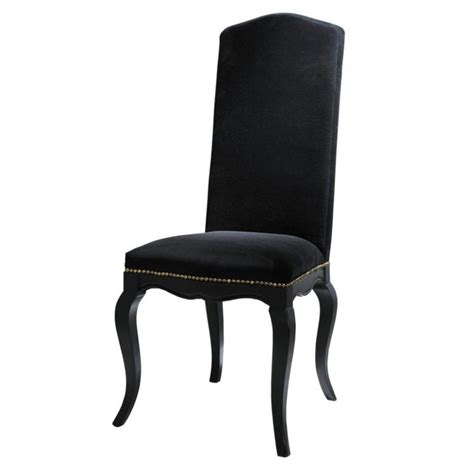 stuhl samt stuhl aus samt und holz schwarz barocco barocco maisons