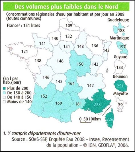 Consommation Moyenne De Gaz 3646 by Planetoscope Statistiques Litres D Eau Consomm 233 S Par