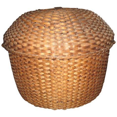 decorative covered baskets antique covered basket for sale at 1stdibs