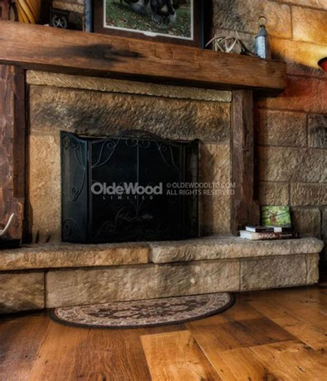 17 best ideas about rustic fireplace mantels on