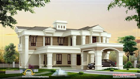luxury villa house plans beautiful luxury villa design 4525 sq ft kerala home design and floor plans