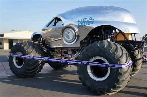 all monster truck videos monster jam all new earth authority police truck nea