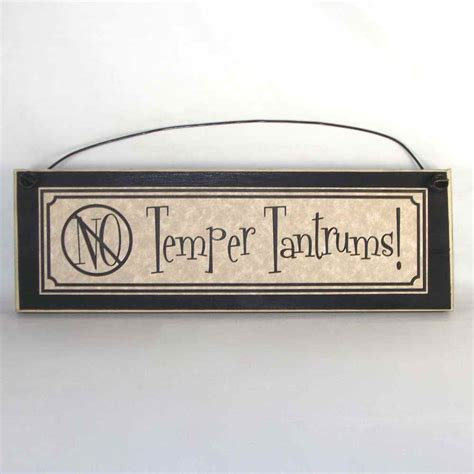 home decor signs no temper tantrums funny kids signs country home decor ebay