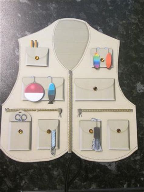 fishing vest card template fishing vest shaped card kit cup540945 2038 craftsuprint