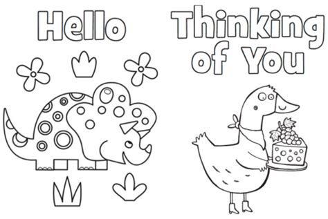 free thinking of you card template printables highlights for children