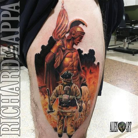 st florian tattoo designs florian and firefighter by zuludroog on