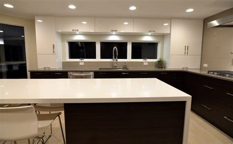 geneva modern kitchens small quot u quot shaped modern kitchen with white and wood