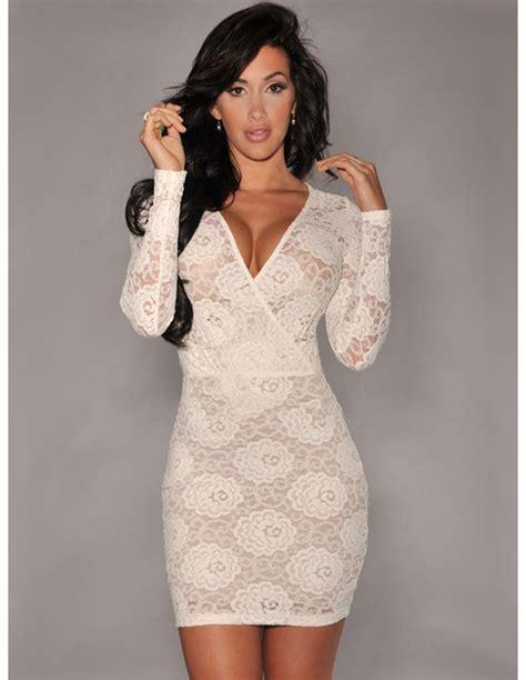 vestido blanco corto de encaje - Vestido De Encaje Corto
