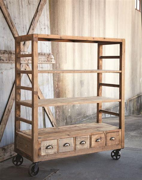vintage style rolling shelves home decor furniture