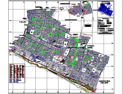 district plano san miguel dwg block  autocad designs cad