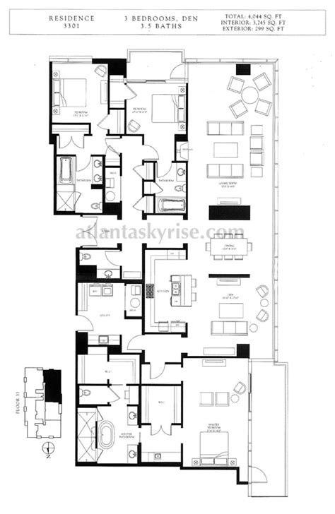 ritz carlton floor plans ritz carlton residences penthouse 3301 2 765 200