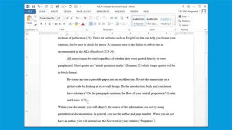 Inserting Citations In An Essay by Using Mla Style Inserting A Block Quote