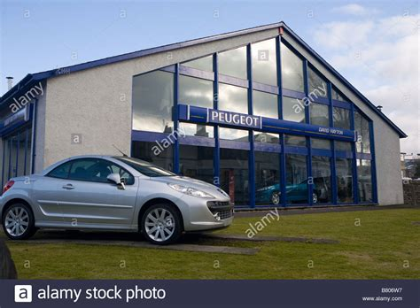 Peugeot Main Dealer Stock Photo Royalty Free Image