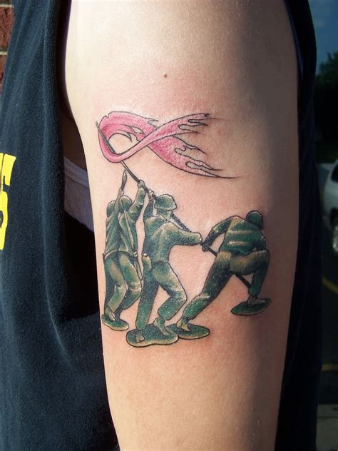 breast cancer tattoos for guys artistic ink iwo jima breast cancer awareness and family