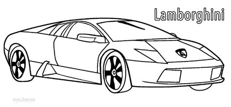 free coloring pages of lambo logo