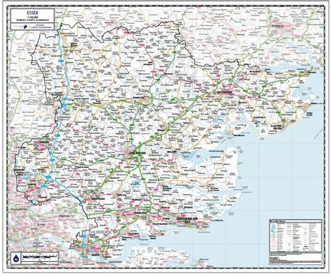where is the map essex county map paper laminated or mounted on pin