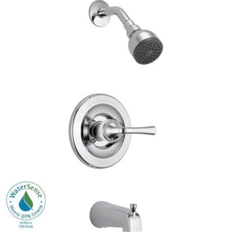 Home Depot Shower Faucets by Delta Foundations 1 Handle Tub And Shower Faucet In Chrome