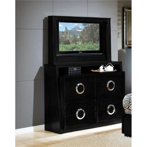 bedroom set with tv hollywood bedroom bed tv dresser tv mirror black