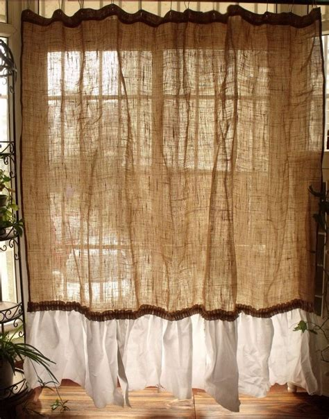 shabby chic burlap vintage napkins shabby rustic chic burlap shower curtain