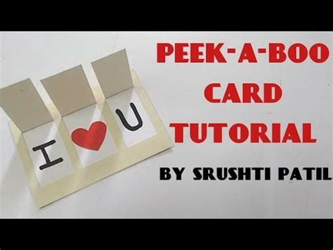 Peek A Booklove peek a boo card tutorial by srushti patil