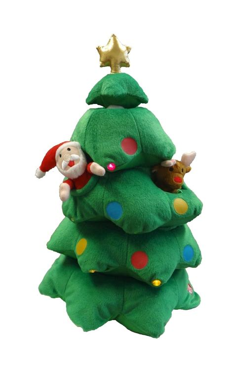 singing christmas tree animated plush toy musical reindeer