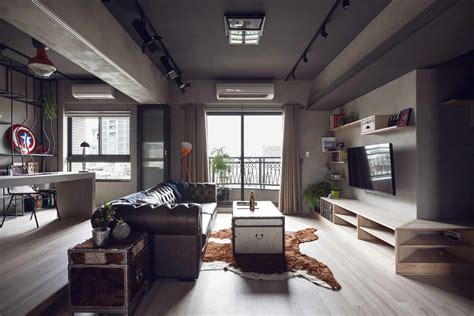 industrial apartment marvel themed industrial bachelor s apartment in taiwan