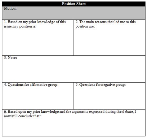 debate flow template 14 04 07 energizing the debate the pros and cons of