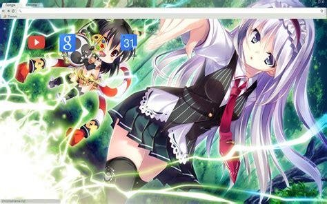 google chrome theme anime gallery cute anime girl theme 1366x768 chrome web store
