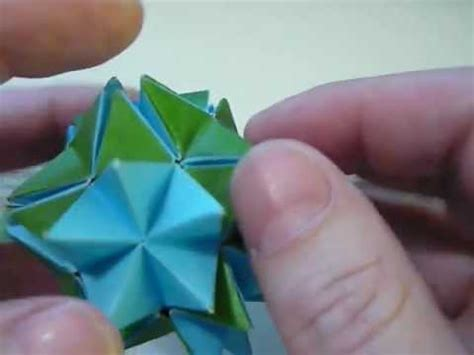 Origami Revealed Flower - origami spikey pop up revealed flower mov