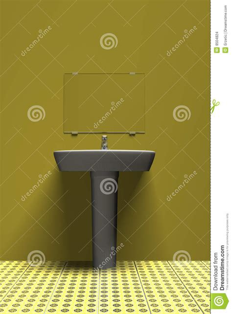 yellow bathroom sinks sink in yellow stock images image 8504824
