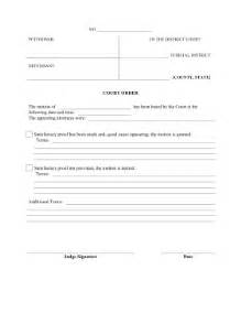 Court Motion Templates Free by Printable Court Order Pleading Template