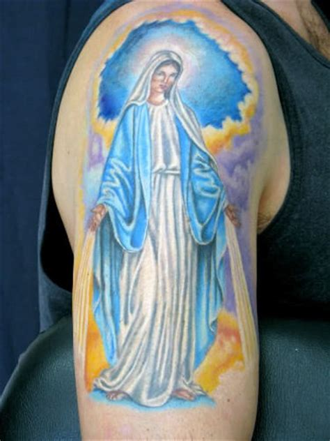 tattoo ideas virgin mary great on shoulder