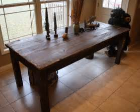 Farmers Kitchen Table Beautiful Fishing Lake Cabin Walnut Stained Primitive