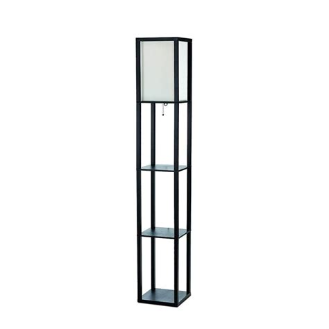 simple designs 63 3 in etagere black floor l organizer