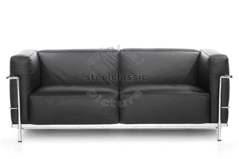 le corbusier canap 233 2 places lc3 steelclassic