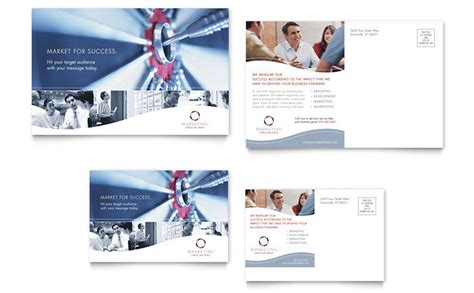 Postcard Advertising Template marketing consulting postcard template design
