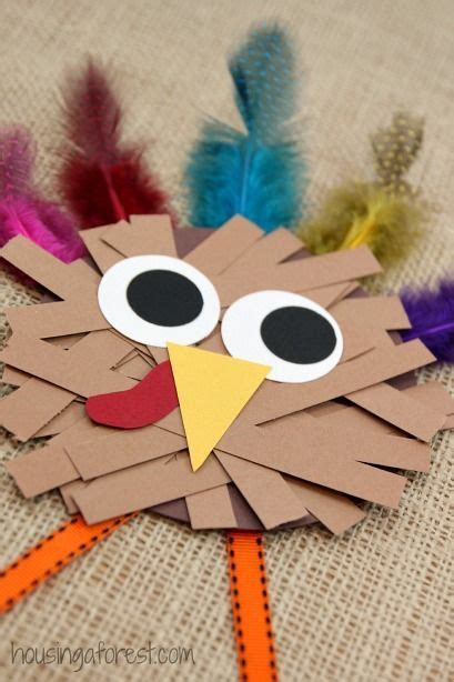 Crafts Using Paper Strips - thanksgiving crafts for paper turkey