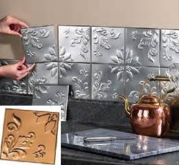 Metal Wall Tiles Kitchen Backsplash by Metal Tin Silver Copper Peel And Stick Kitchen Backsplash