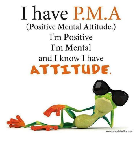 Positive Thinking Meme - i have pma positive mental attitude i m positive i m