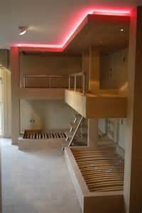 Bunk Bed Lighting Bespoke Bunk Beds With Lighting Room
