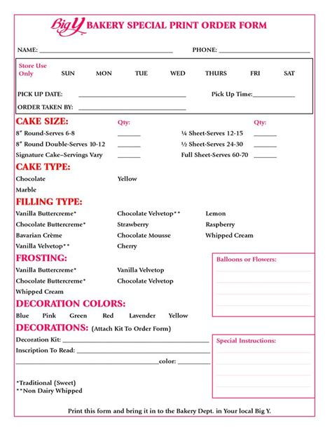 17 Best Images About Order Forms On Pinterest Clean Mama Cleanses And Invoice Design Custom Cake Order Form Template