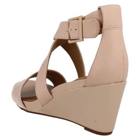 Sandal Wedges Jepit Spon 5 clarks open toe wedge casual sandals style acina newport ebay