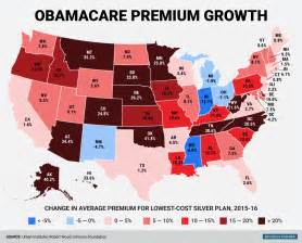 map insurance obamacare price change for every state in us business